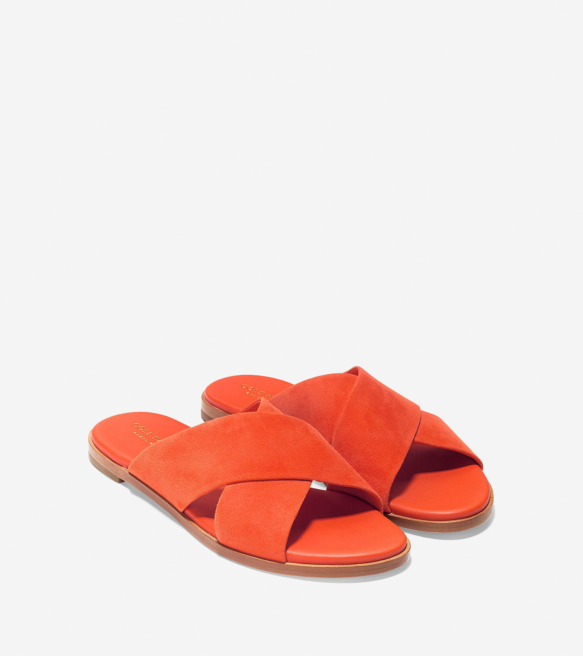 640c9d90c26 Anica Criss Cross Sandals in Spicy Orange Suede