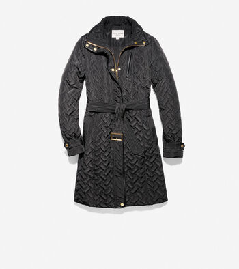 Signature Quilted Zip Front Coat
