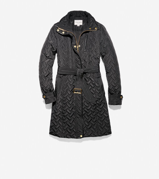 Outerwear > Signature Quilted Zip Front Coat