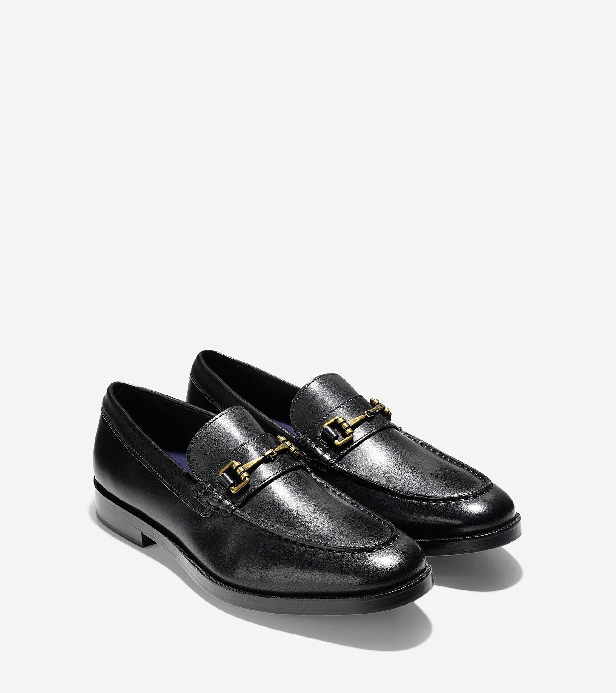 95e878844a3 Men s Hamilton Grand Bit Loafers in Black Leather