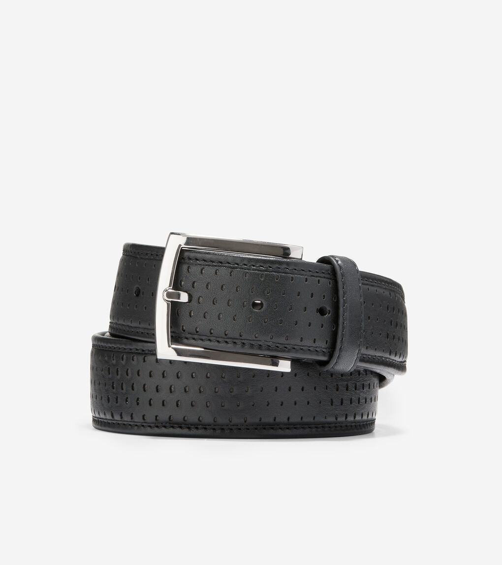 MENS Wrap Edge 32mm Perforated Belt