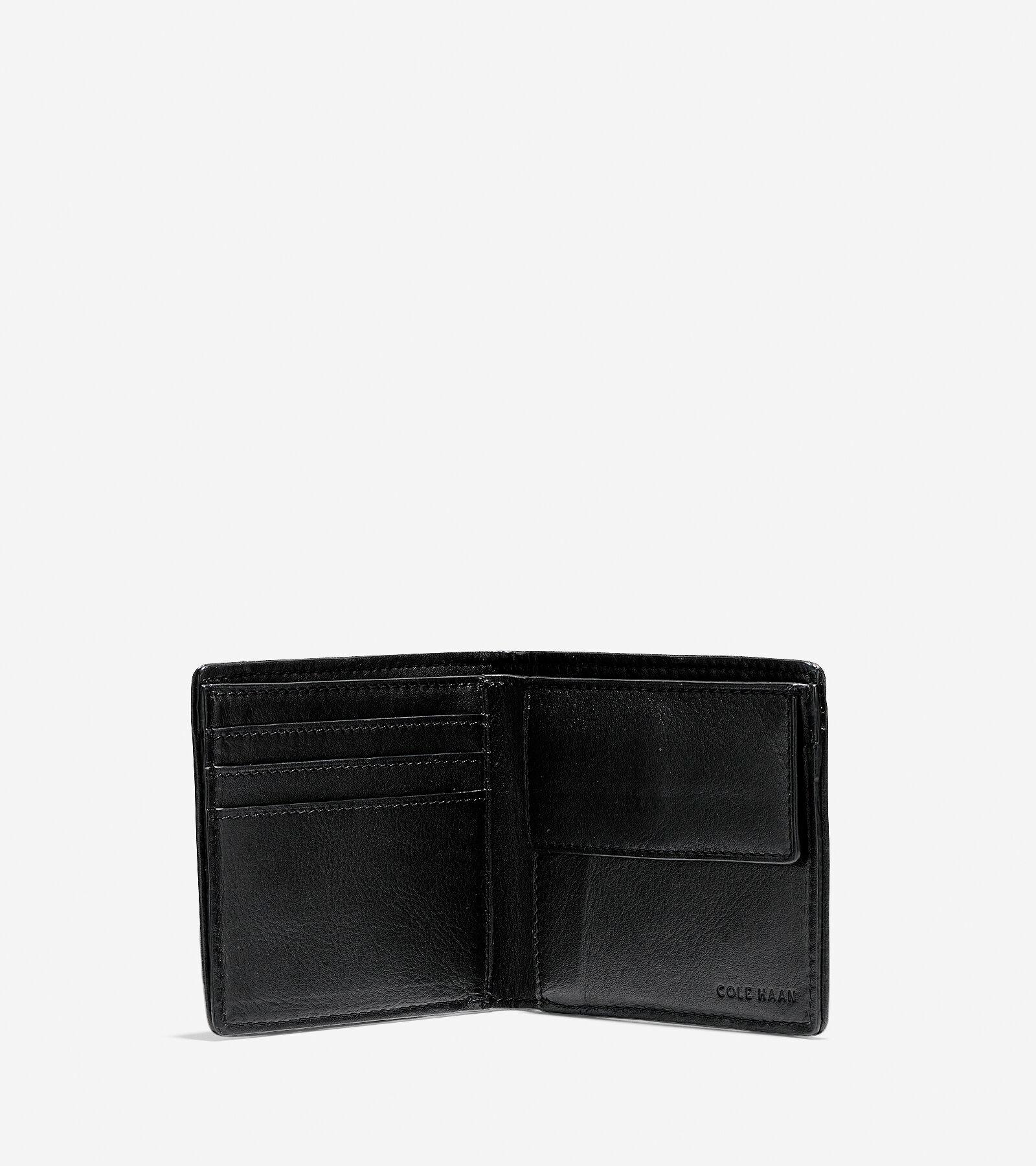 Cole Haan BRAYTON WEAVE Bifold Coin Pocket Wallet