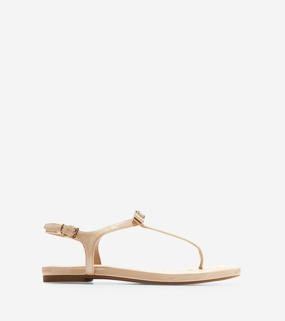 cb35c29be5f0d Women s Tali Mini Bow Sandals in Nude Patent