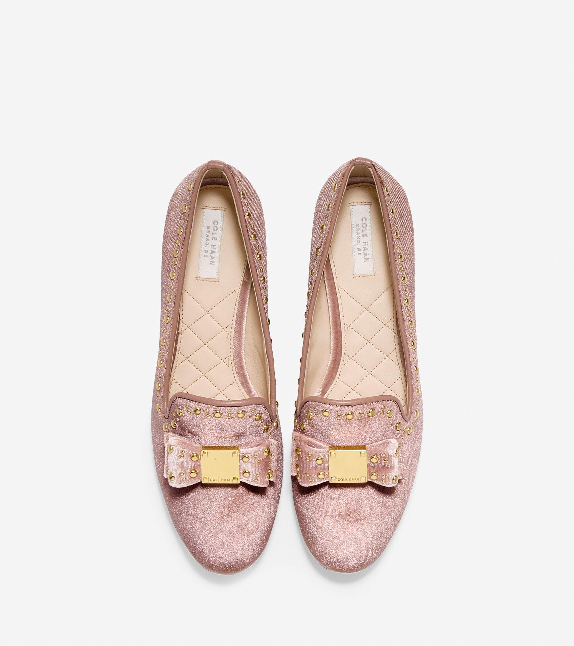 fc644b63838 Women s Tali Bow Stud Loafers in Nude Velvet