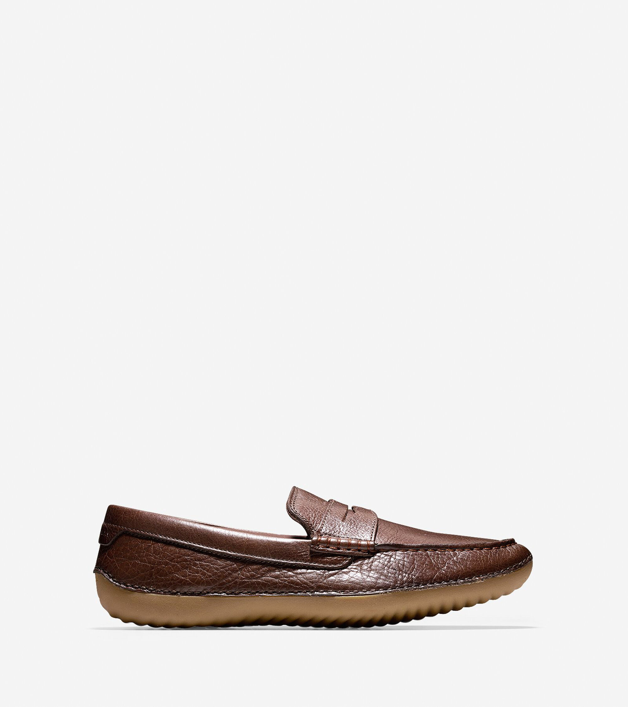 Men's MotoGrand Penny Drivers in Chestnut Leather | Cole Haan