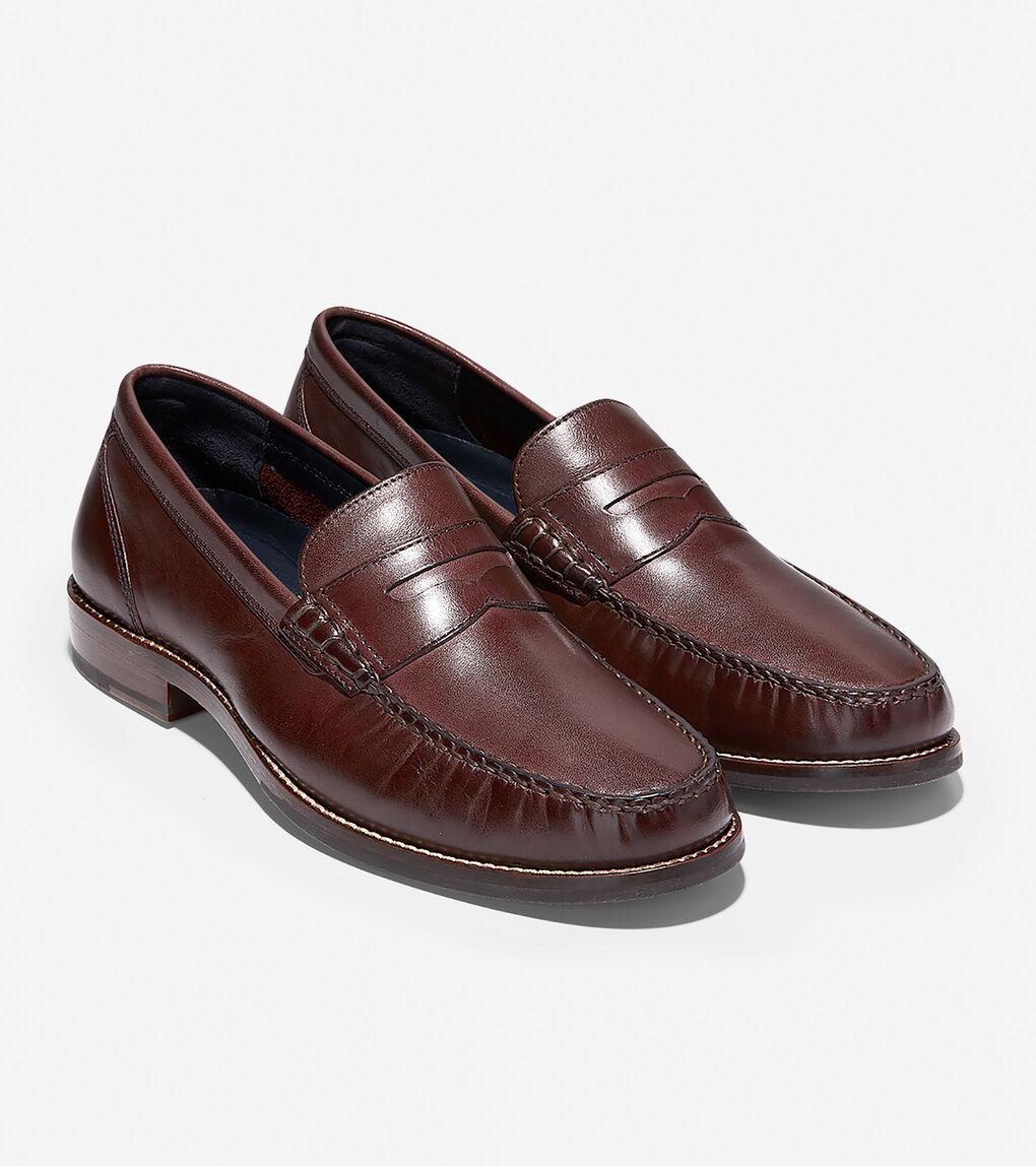 Men's Pinch Grand Classic Penny Loafer in Mahogany | Cole ...
