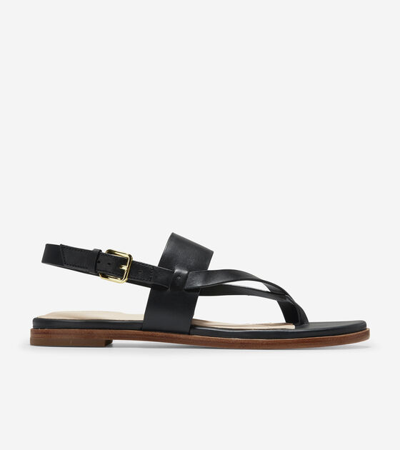 46167b3af Women s Anica Thong Sandals in Black Leather