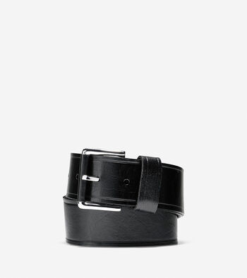 Wide Smooth Leather Belt