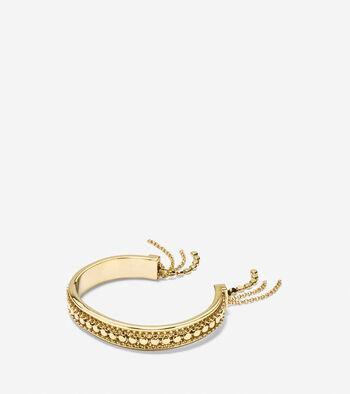 Metropolitan Club Chain Fringe Cuff Bracelet