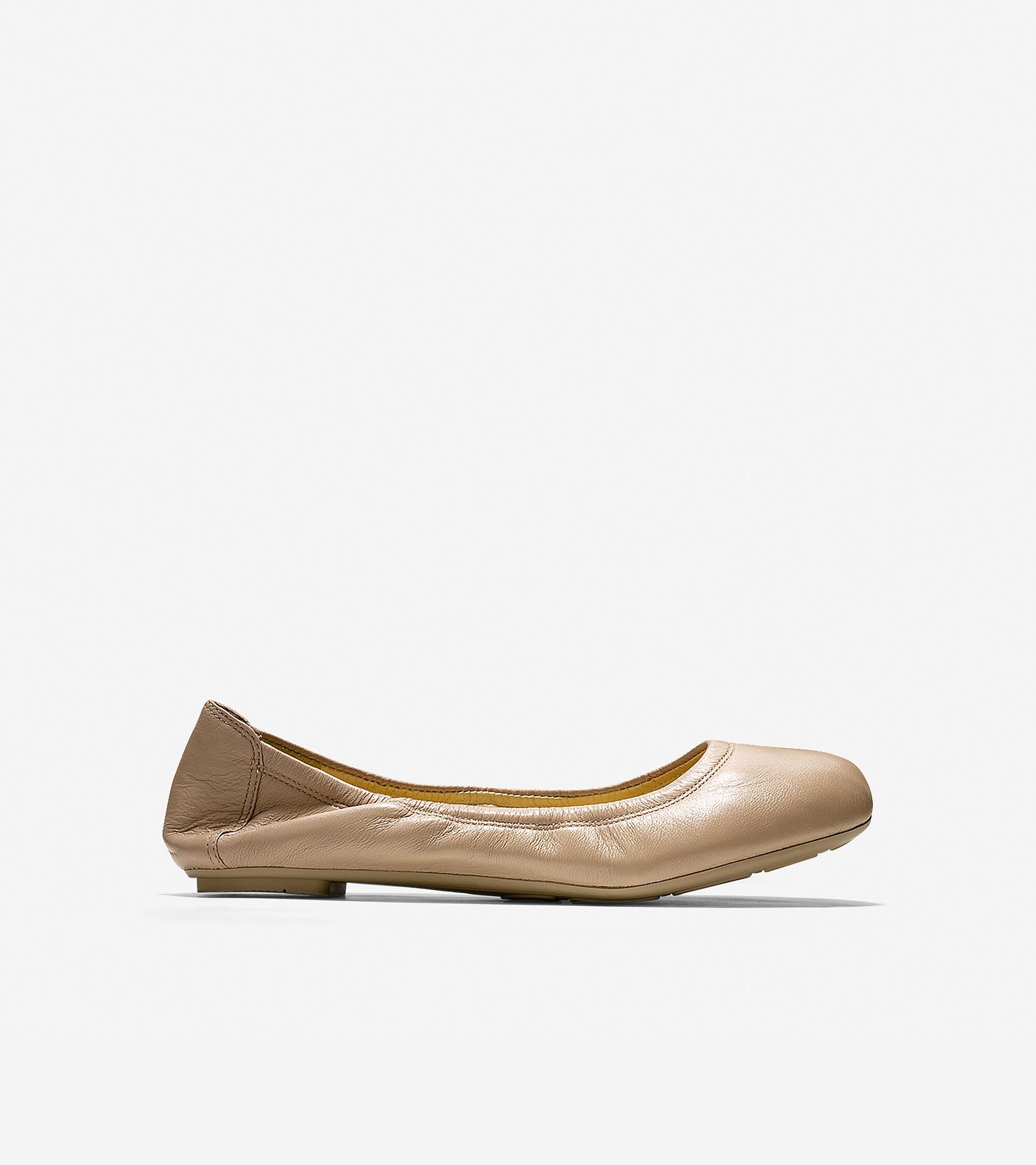 Ballet Flats in Sandstone Leather