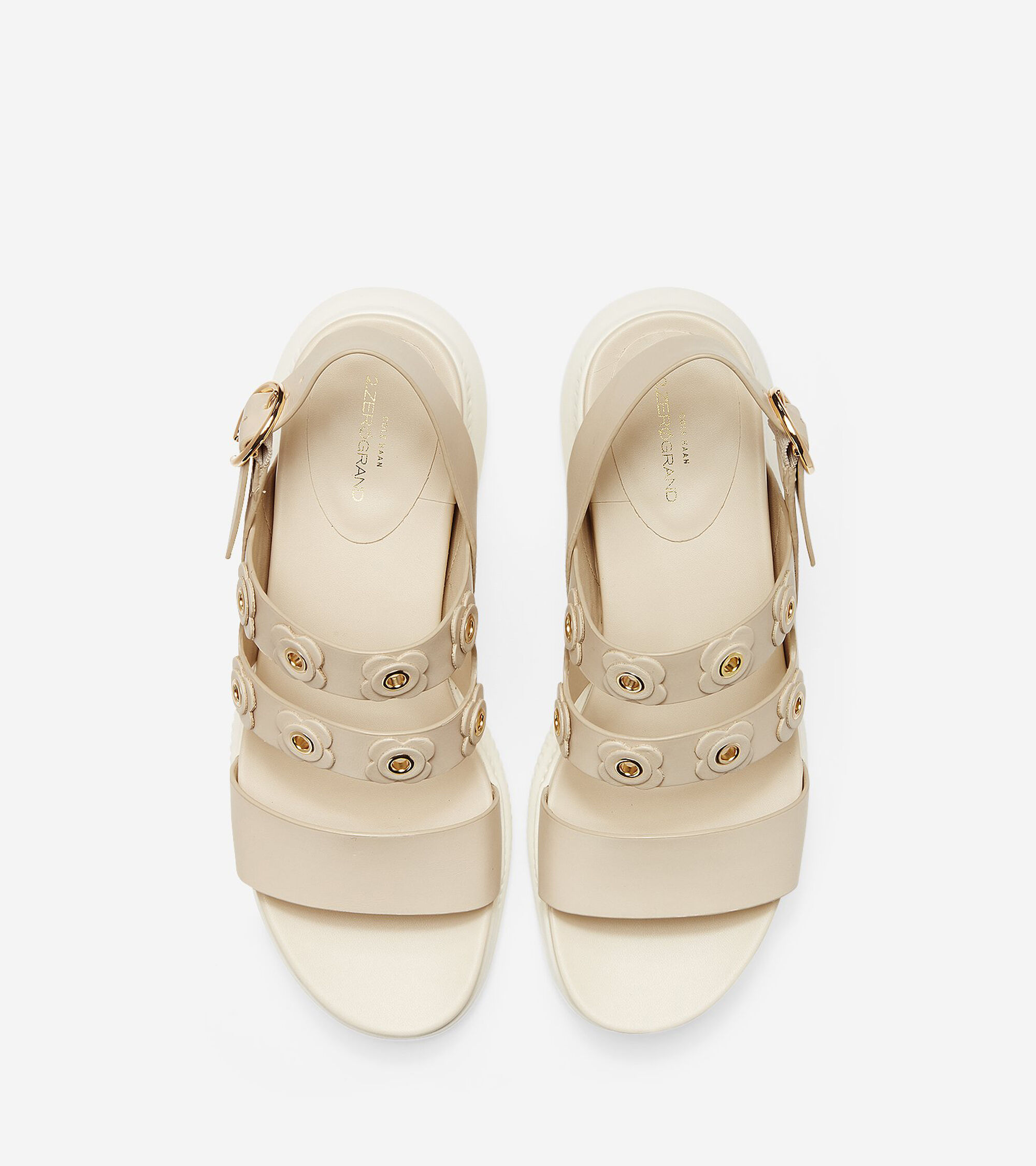 Womens 2zerogrand Flower Sandals In Brazilian Sand Cole Haan