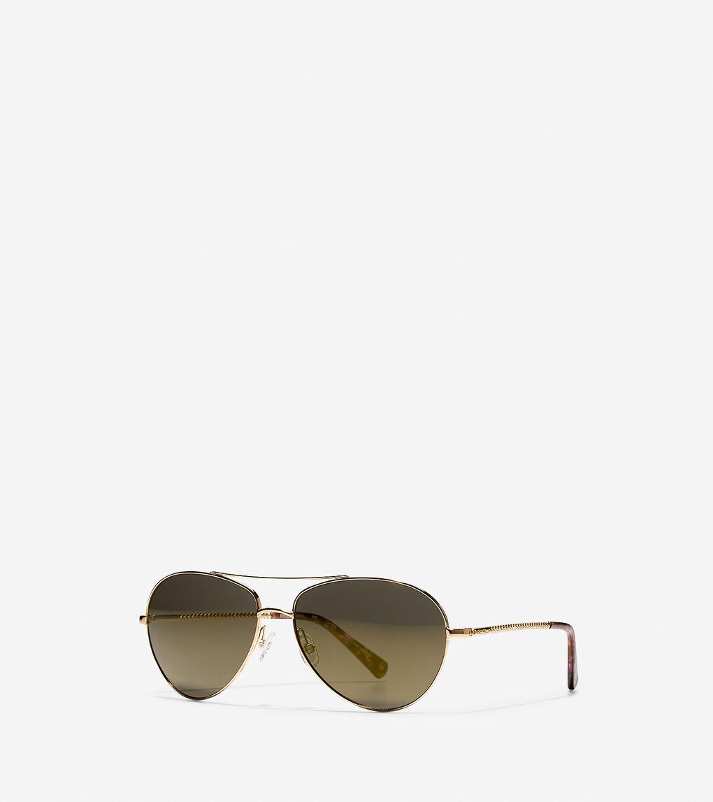 Mens Modern Metal Aviator Sunglasses