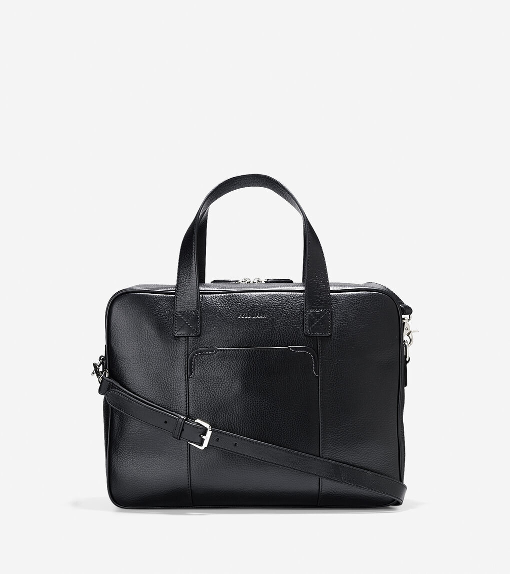 fb2c14f744 Take a step up from backpacks and canvas bags with the Merced Zip Top  Brief. Premium leather construction gives it a classically elegant look, ...