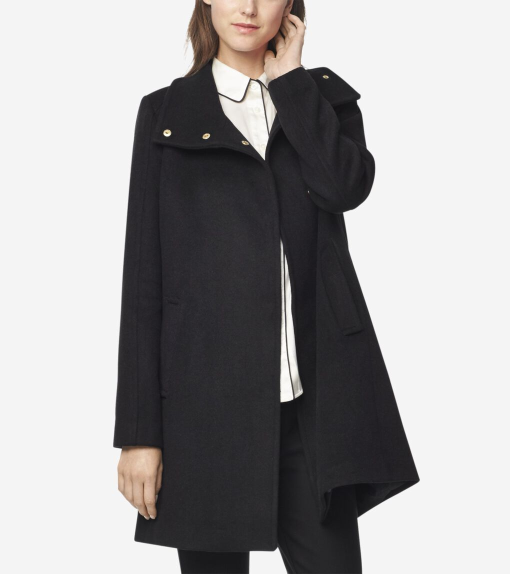 Womens Slick Wool Topper Coat