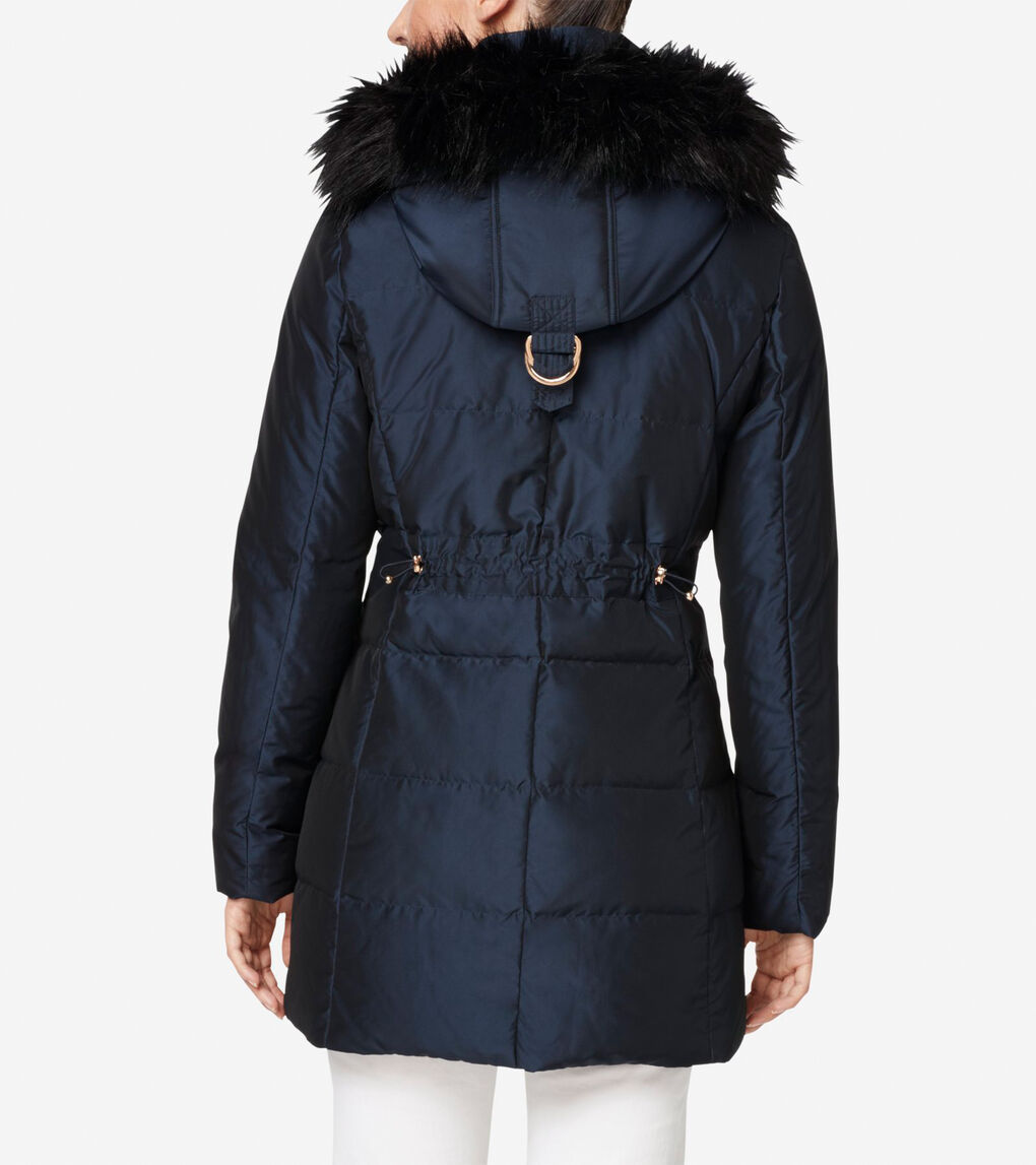 Womens Silk Down Short Coat