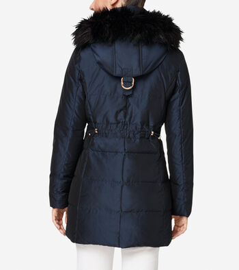 Silk Down Short Coat