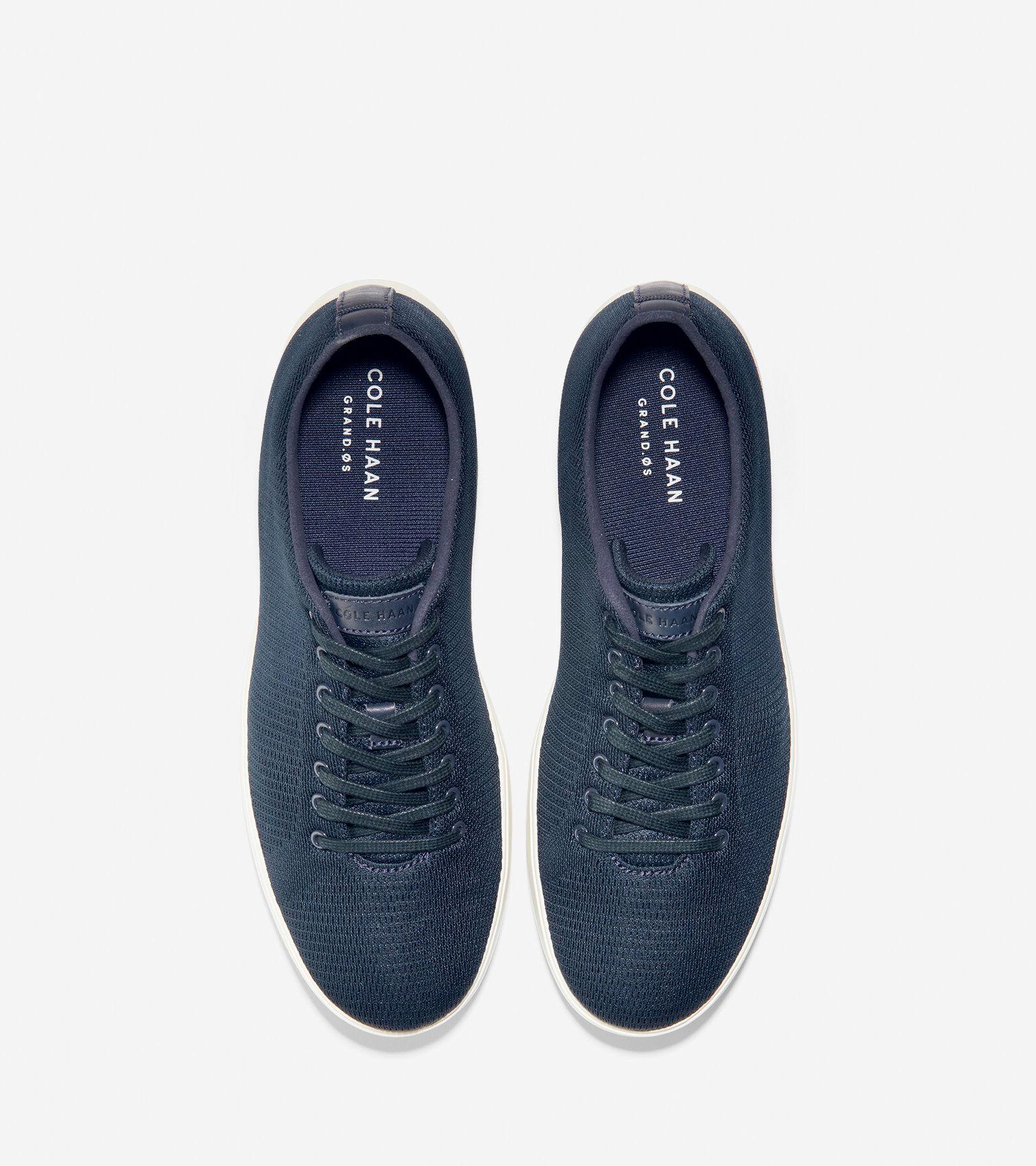 Grand Crosscourt Sneaker in Navy Knit