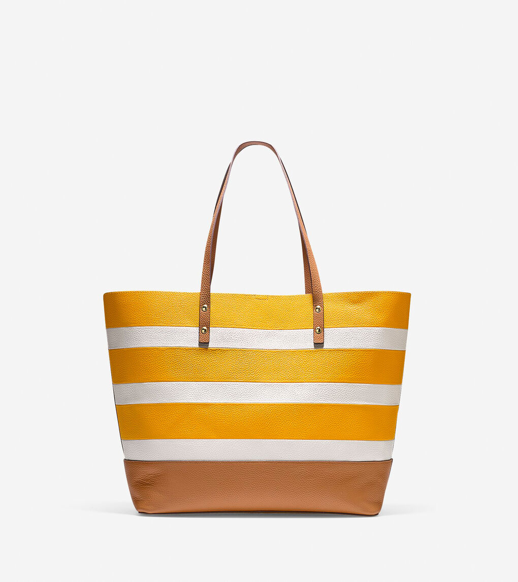 9b24f64eac1 Women's Beckett Tote in Sunglow-ivory Stripe | Cole Haan US