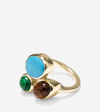 Spring Street Fashion Semi-Precious Cluster Ring