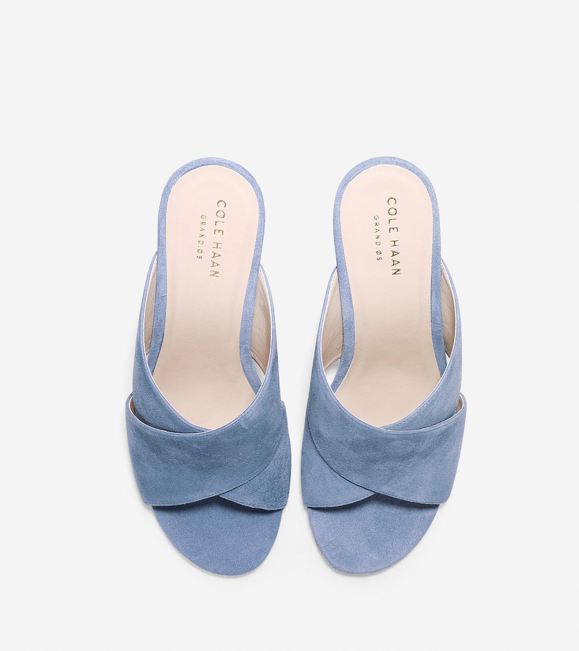 aab1efa4b892 Women s Gabby Sandals 85mm in Cornwall Blue Suede