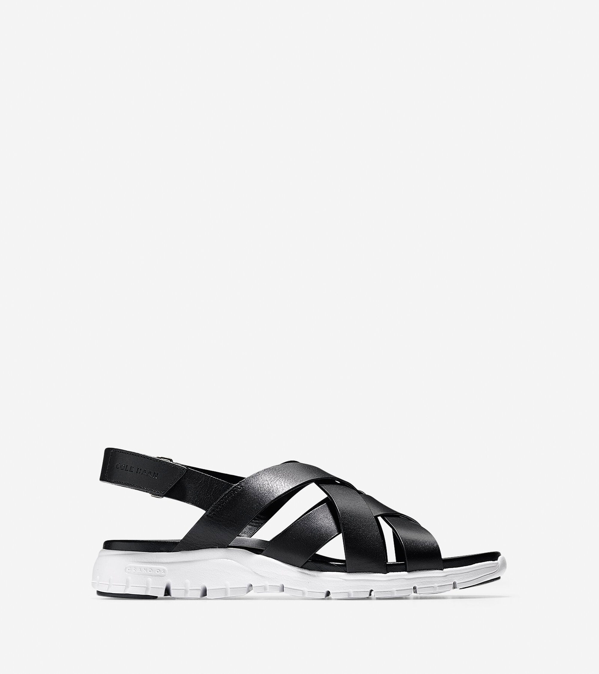 5bb6bf084f25 Women s ZEROGRAND Criss Cross Sandals in Black-White