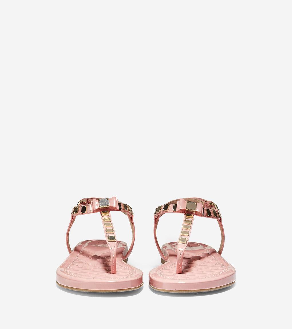 Womens Tali Mini Bow Studded Sandal