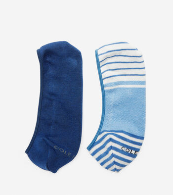 Striped No-Show Socks - 2 Pack