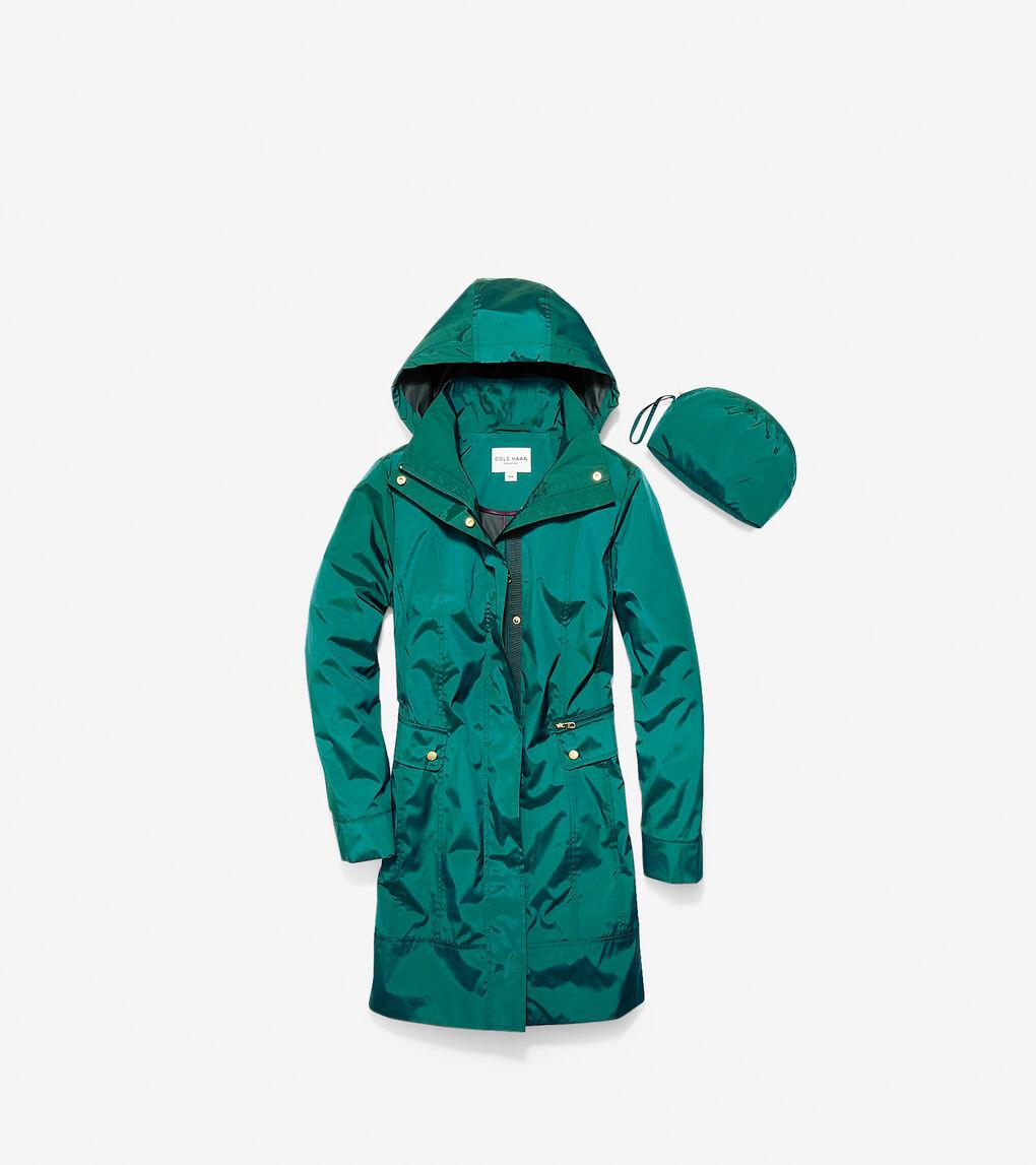 Womens Travel Packable Classic Coat