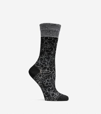 Floral Crew Socks