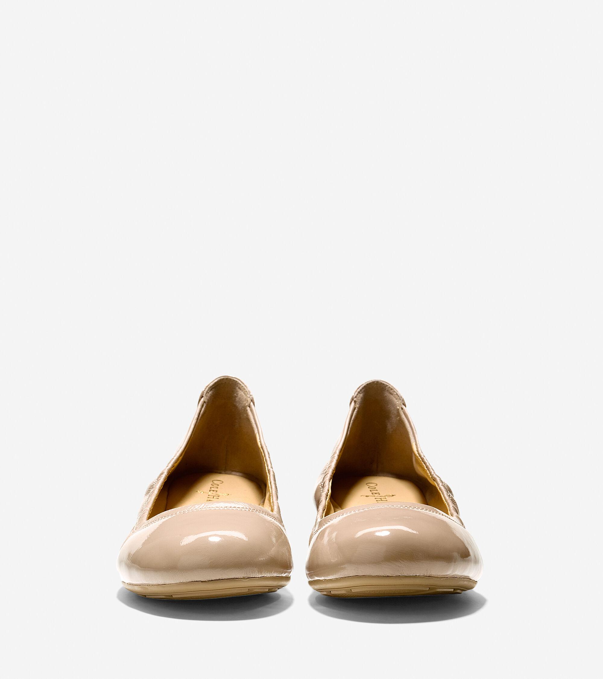 Manhattan Flats: Manhattan Ballet Flats In Sandstone Patent