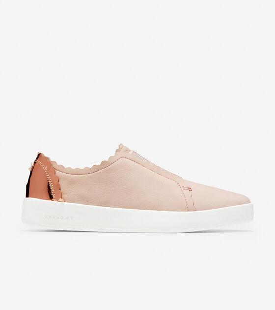 Sneakers > Women's Grandprø Spectator Scalloped Slip On Sneaker