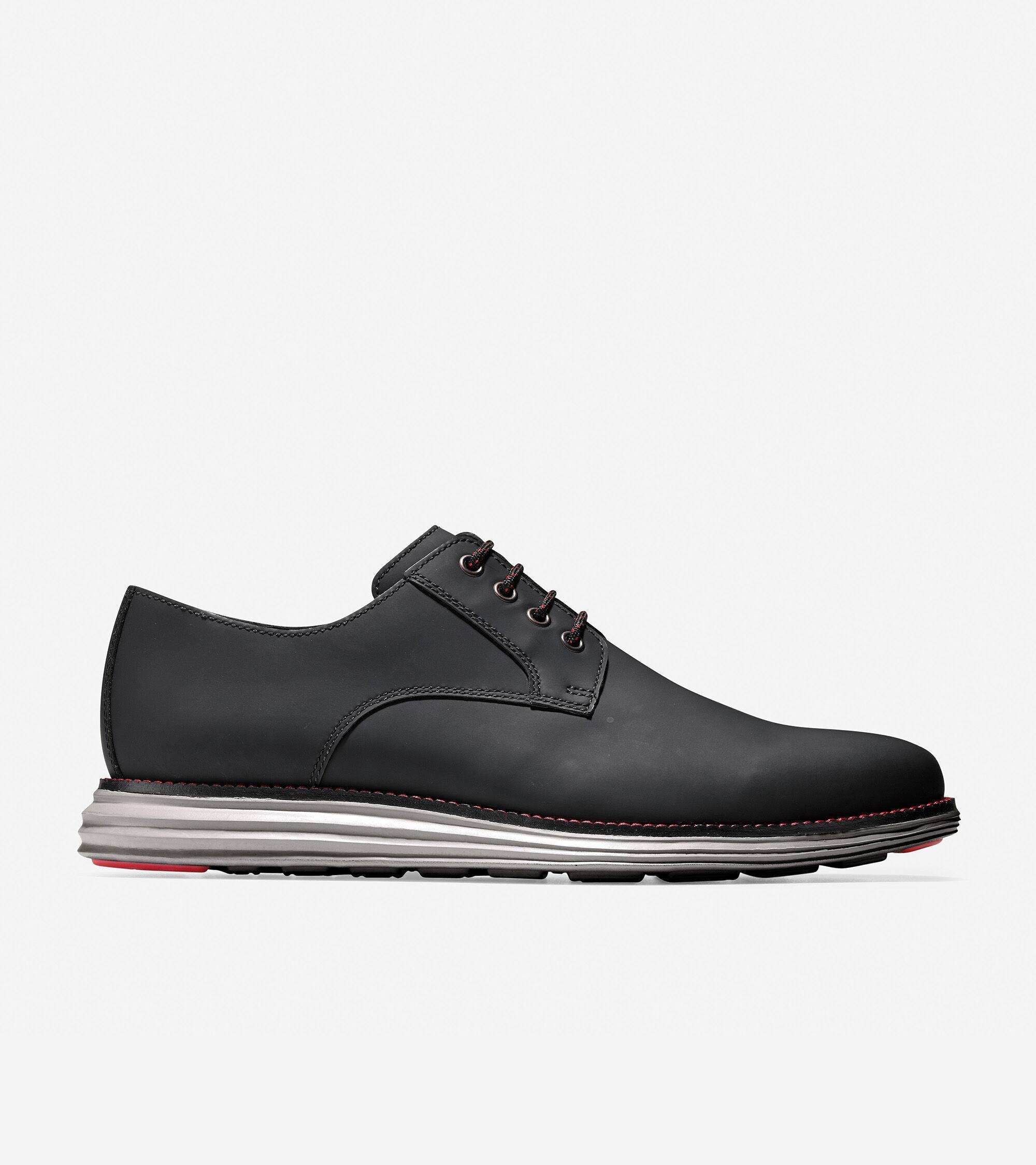 Plain Toe Oxford in Black Matte Leather