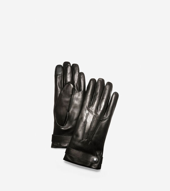 Bags & Outerwear > Belted Leather Gloves