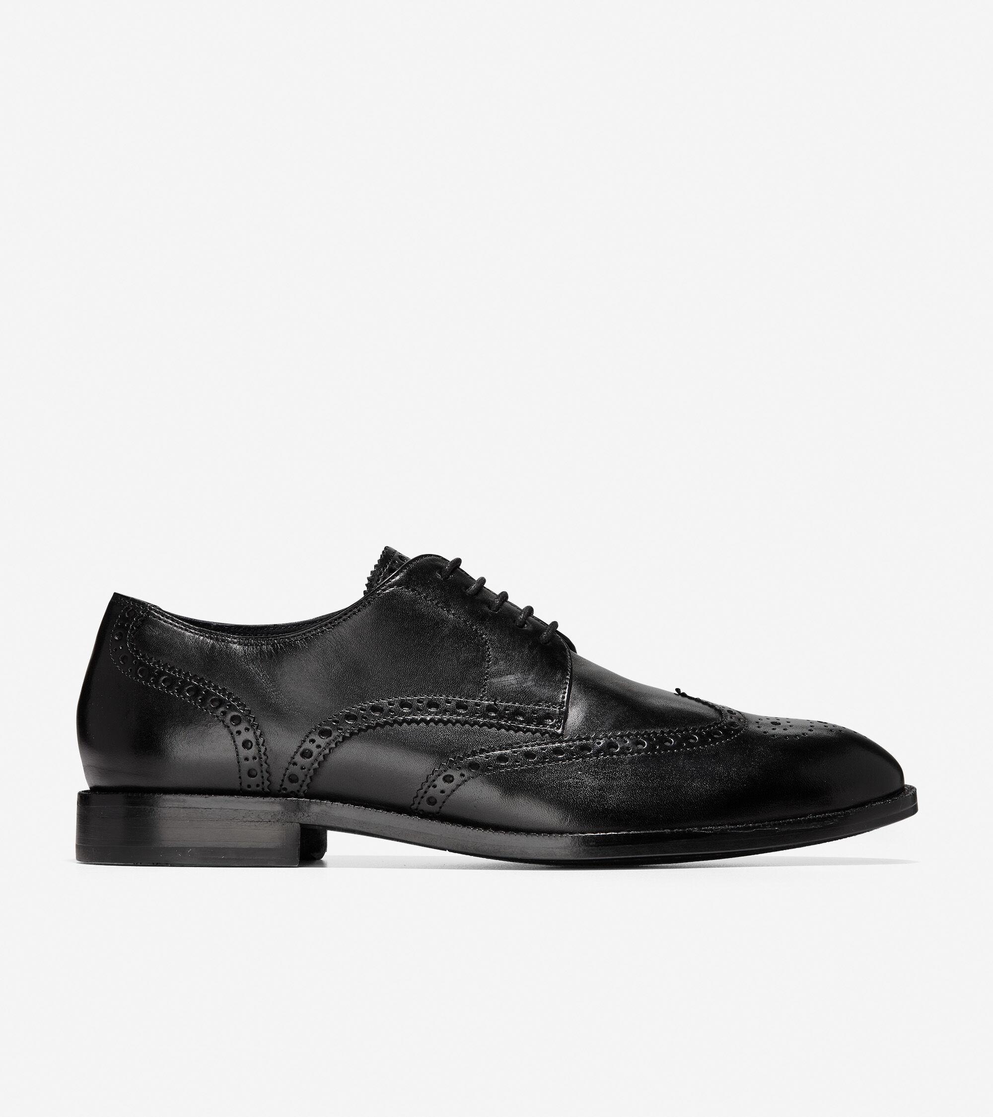 Men's Harrison Wingtip Oxford in Black