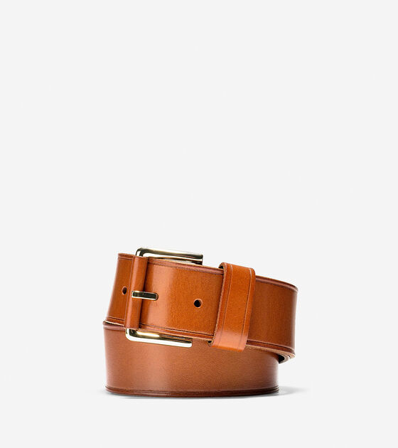 Accessories & Outerwear > Wide Smooth Leather Belt