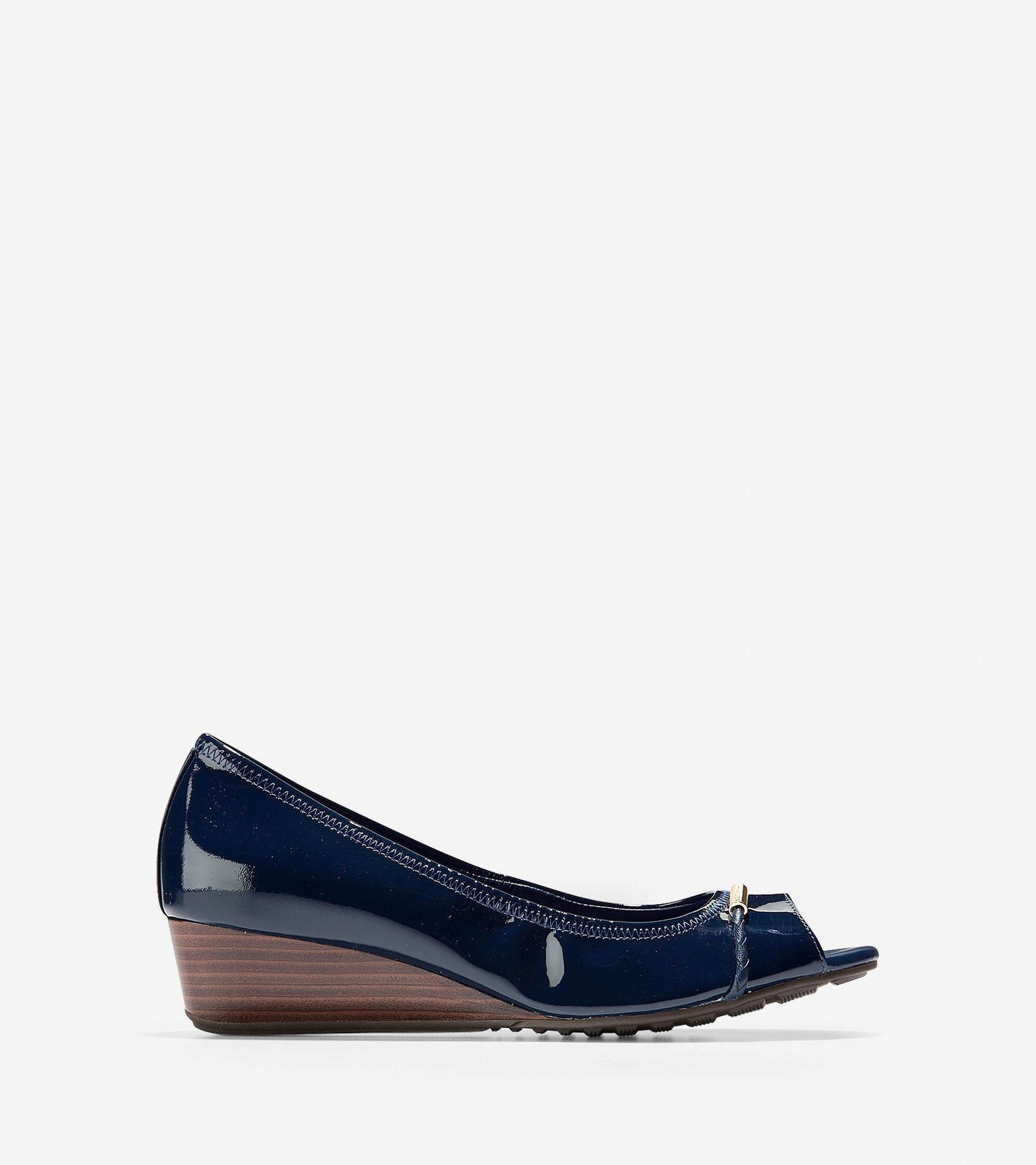 Cole Haan Women's Emory Braided Open Toe Wedge (40mm)