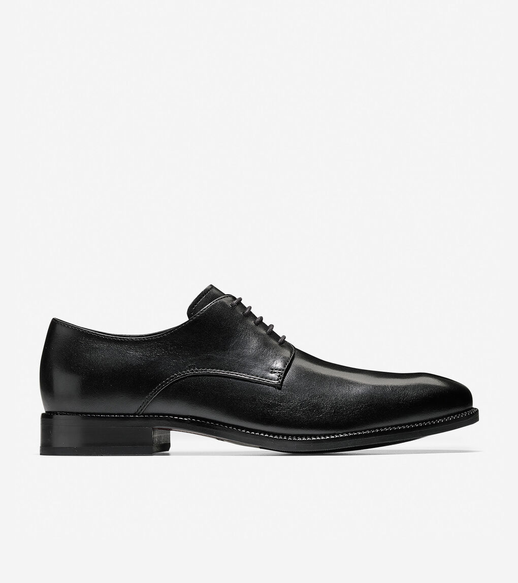 Black Matte Leather Cole Haan Oxfords Mens 13M