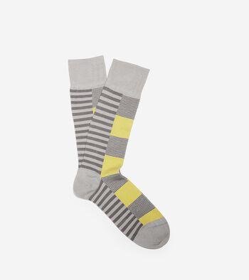Side Split Stripe Crew Socks