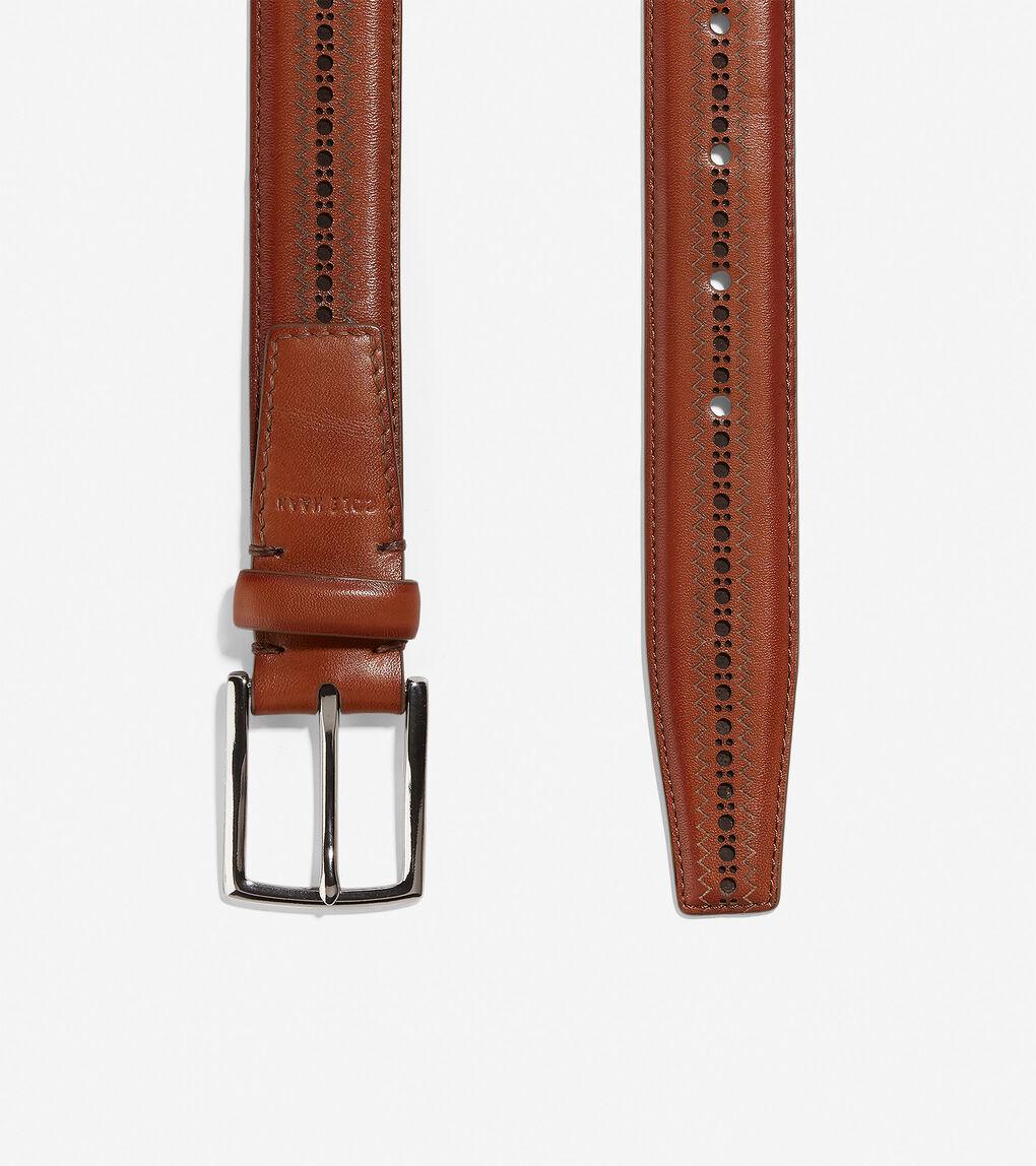 Mens Feathercraft 32mm Laser Perforated Belt
