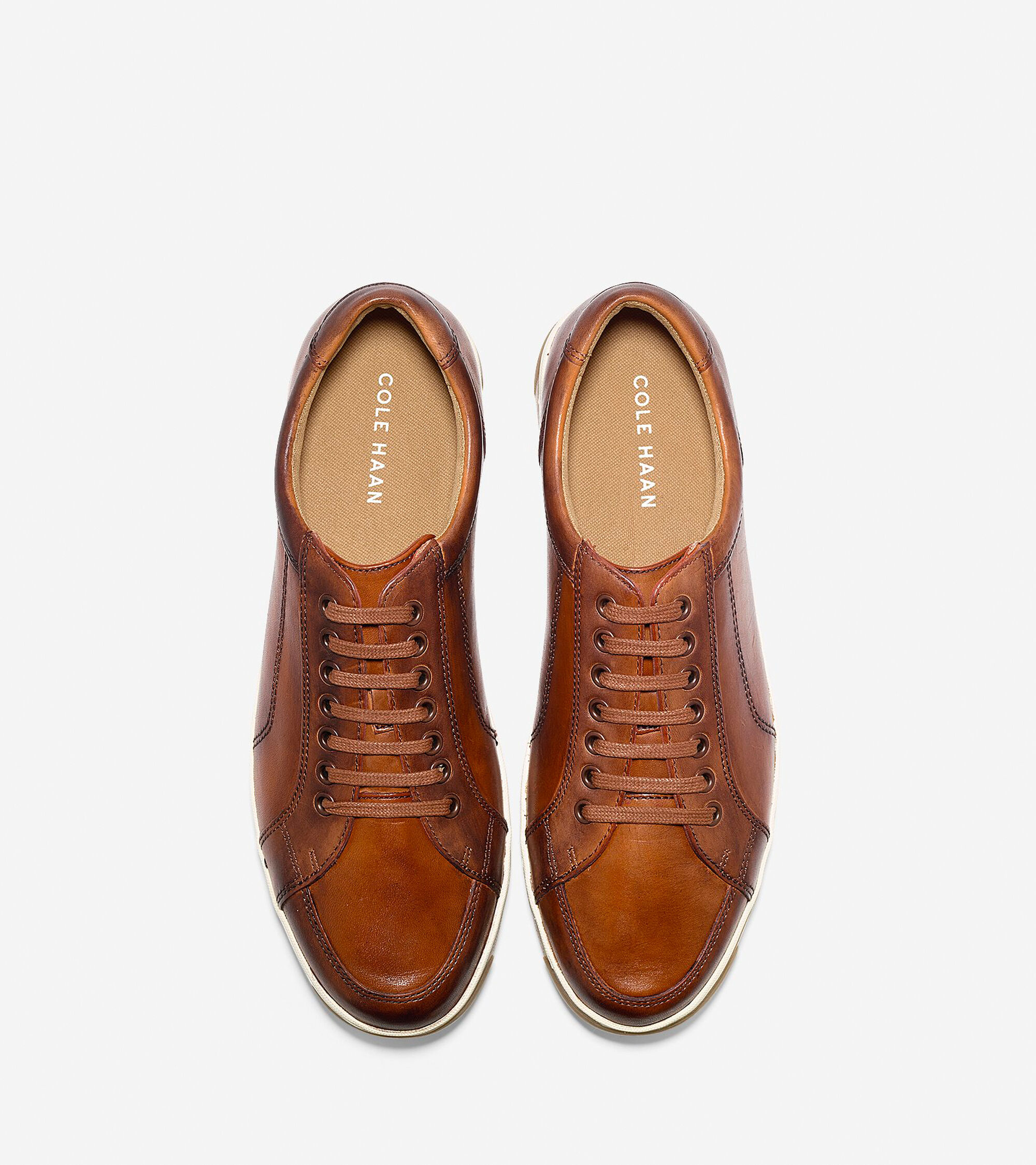 d2b10d76361 Vartan Hand-Stained Sport Oxfords in British Tan