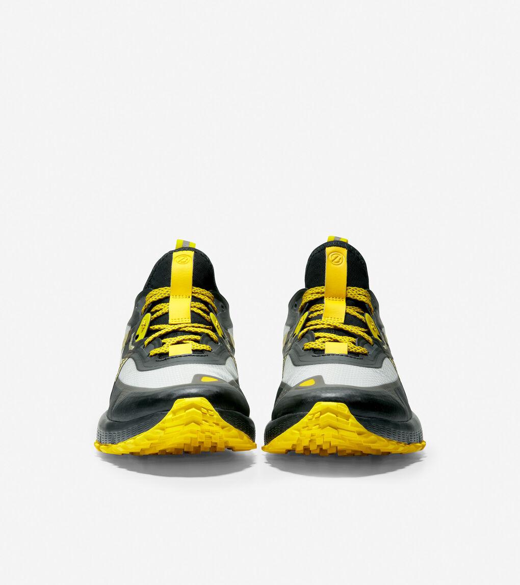 Black//Cyber Yellow Cole Haan Mens Zerogrand OVERTAKE All Terrain WR Cross Trainer 13