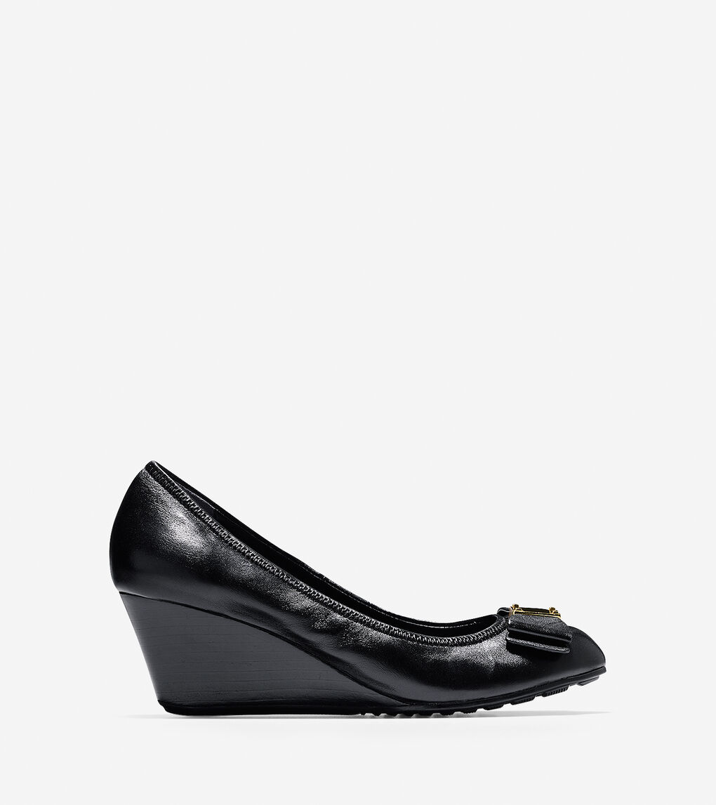 71ce168b0 Women's Tali Grand Bow Wedge (65mm) in Black | Cole Haan US