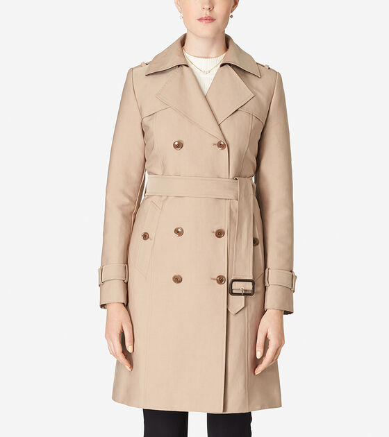 Accessories & Outerwear > Tali Lined Trench Coat