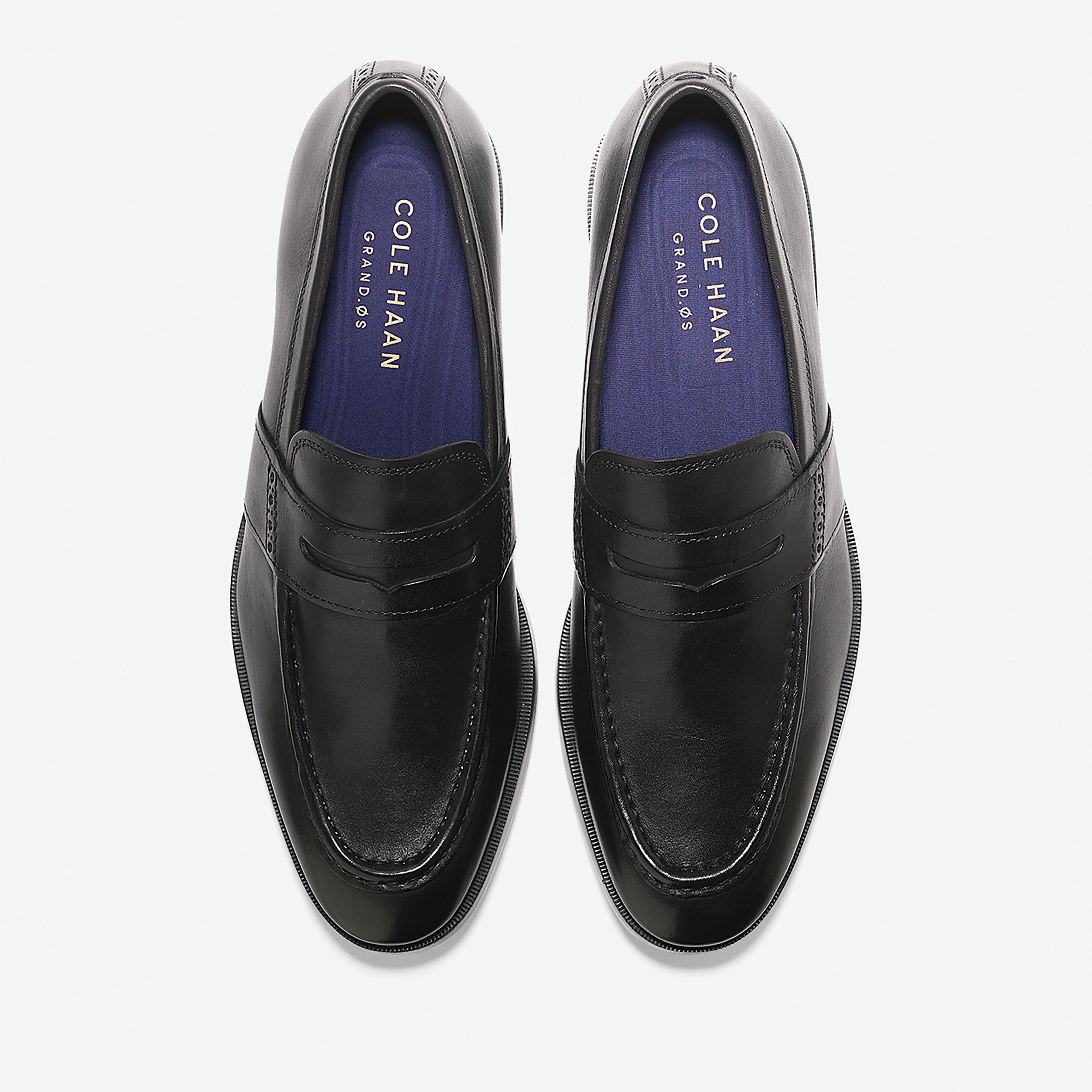 Jefferson Grand Penny Loafer in Black
