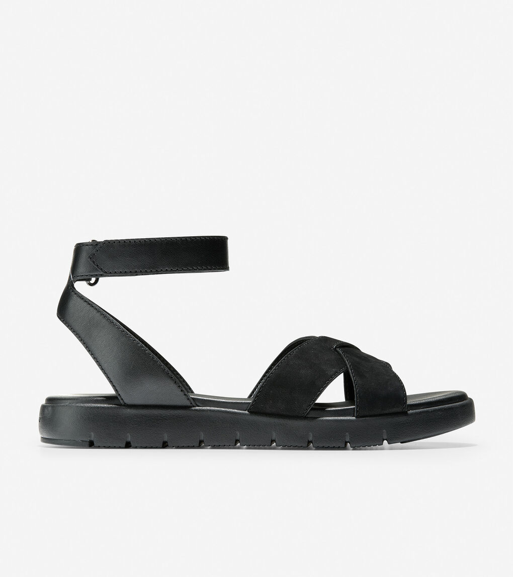 Womens ZERØGRAND Cross Strap Sandal