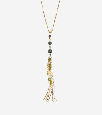 Starry Pearl Tassel Necklace
