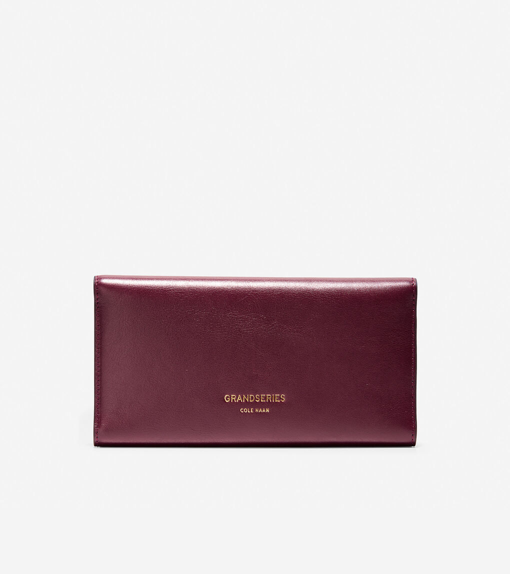 Womens GRANDSERIES Flap Trifold Envelope Wallet