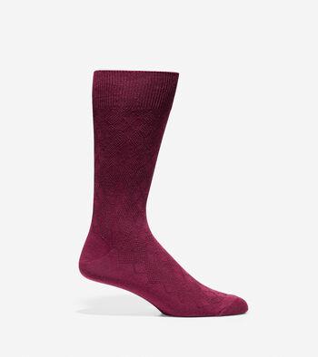 Textured Argyle Crew Socks - 3 Pack