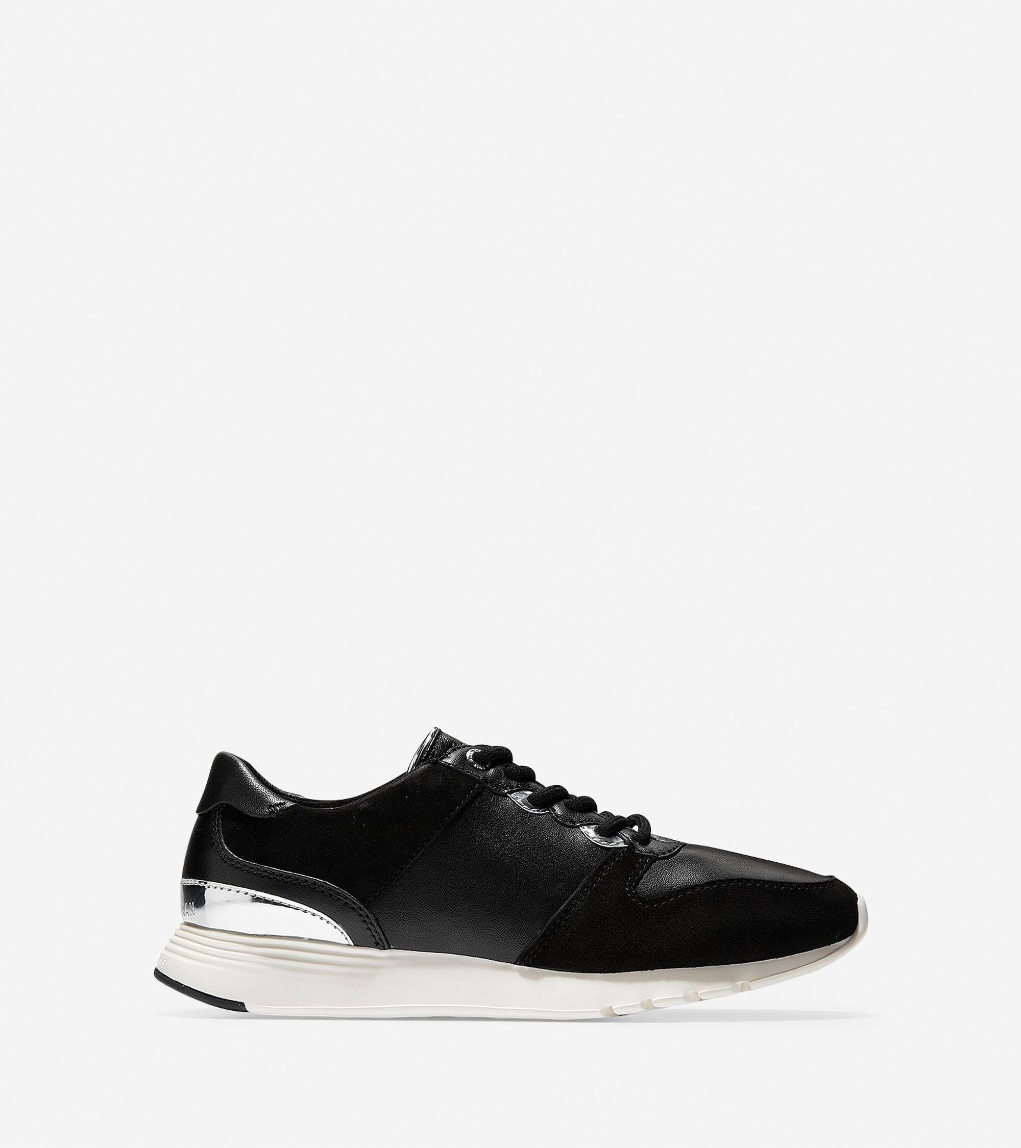383fb2def3e7 Women s Grand Crosscourt Wedge Sneakers in Black-White