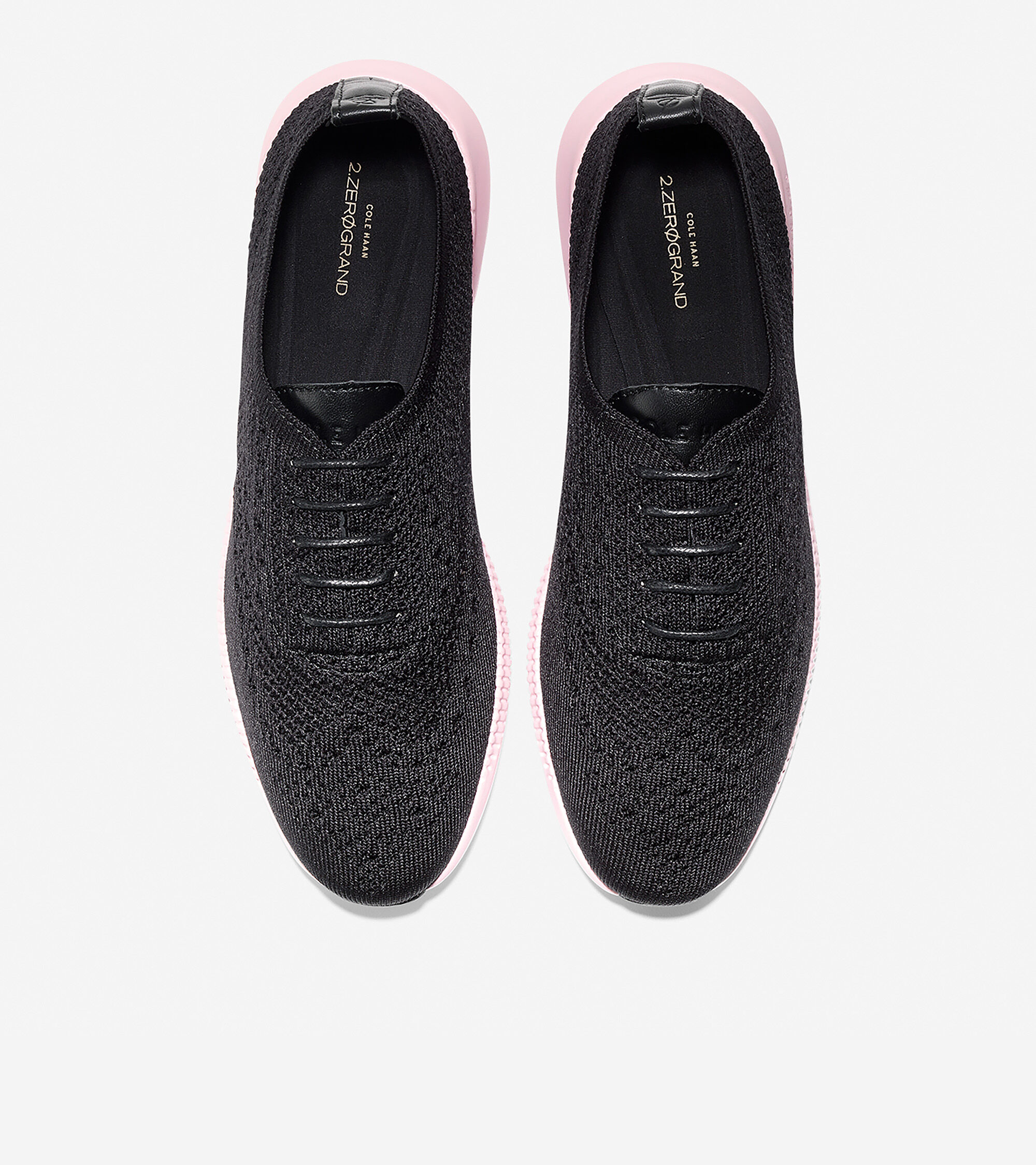 Wingtip Oxford in Black Knit-pale Lilac
